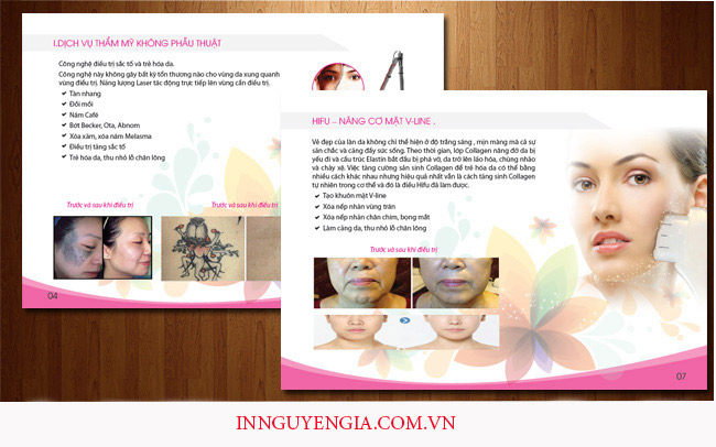 mẫu in catalogue spa